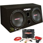 Audiopipe XBX1200B Xxx Bass Pkg.dual 12 W/amp + アンプキット. 1200W. Black ウーファー
