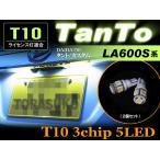 【配送料0円】 バルブ交換タイプ LED ライセンスランプ タント タントカスタム TANTO LA600S系 ナンバー灯