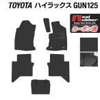 トヨタ 新型 ハイラックス GUN125 フロアマット ◆ カーボンファイバー調 リアルラバー HOTFIELD 送料無料