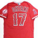 ��ë��ʿ ľɮ���������� ���륹 ��������ƥ��å� ��˥ե����� ��å� / Shohei Ohtani Autographed Angels Authentic Jersey Red