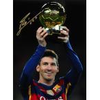 リオネル・メッシ 直筆サイン入りフォト 2015 FIFA バロンドール (Lionel Messi Official Signed Barcelona Photo: 2015 FIFA Ballon d'Or Winner)