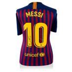 �ꥪ�ͥ롦��å� ľɮ�����������˥ե����� 2018-19 FC �Х륻��� �Хå������� (Lionel Messi Official Back Signed Barcelona 2018-19 Home Shirt)