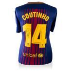 �ե���ڡ����������˥� ľɮ�����㡼�� 2017-18 FC�Х륻��� �ۡ��� (Back Signed FC Barcelona 2017-18 Home Shirt) / Philippe Coutinho