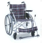 車いす 自走式 ノーパンクタイヤ車椅子 アルミ製 背折