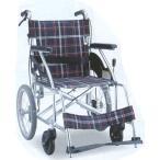 車いす 介助式 ノーパンクタイヤ車椅子 アルミ製 背折