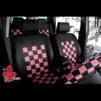 ショッピングシートカバー アルトラパン に 軽自動車汎用 ピンクマニアシートカバー ブラック&ピンク 汎用シートカバー