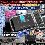 フルセグ地デジチューナーFT44E/bB 30系(H13.8〜H17.12)VHI-T10/HDMI 4×4&ビデオ入力ハーネス2点セット/純正車載テレビ用