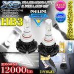 プリウス/α/パッソ/プレミオ/HB3 X3 PHILIPS 12000ルーメンLEDヘッドライト&フォグランプキット50W/6500K車検対応2個セット/1年保証