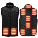 電熱ベスト 加熱ベスト ヒートジャケット 日本製カーボンヒーター 加熱服 USB充電式電熱ベスト 急速発熱 防寒対策 秋冬用 9箇所発熱 独
