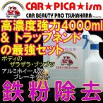 鉄粉除去剤 4000ml トラップネンドSET 濃いから効く PRO用原液タイプ 鉄粉除去の決定版 業務用 ブレーキダスト ボディ 融雪剤
