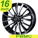 サマータイヤホイールセット 185/55R16 Weds ウェッズ レオニス VT PBMC/パールブラックミラーカット 送料無料