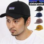 パタゴニア PATAGONIA キャップ 帽子 P-6 LABEL TRAD CAP 登山 ブラック Black アジャスター コットン 綿