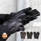 スマホ手袋 メンズ 革手袋 スマートフォン対応 カシミヤライニング イタリア製 お洒落 本革 レザーグローブ シンプル