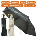 ミニスリム日傘 折りたたみ傘 晴雨兼用 レディース レディス 日傘 軽量 UV 99% 遮光 遮熱 50cm リボンレース柄 ラメプリント
