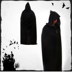 「メール便で送料無料」ハロウィン コスチューム コスプレ衣装 ホラー 黒 死神 マント パーティー服 コスプレ コスチューム 仮装 変装 cosplay