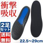 2足セット 22.5〜29cm対応 サイズ調整 衝撃 吸収 インソール 衝撃吸収 中敷き クッション 靴 メンズ レディース スニーカー 日本郵便送料無料 CP