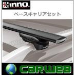 CARMATE inno ルノー カングー 型式:KWK4M 年式:H21.9〜 5ドア/ルーフレール付 フット:XS150+バー:XB138/XB138 エアロベース スルータイプ