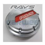 [61025000004RD] RAYS センターキャップセット グラムライツ レッド/シルバー 4個セット