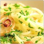 【1人前】にんにく,赤唐辛子,純イタリア産オリーブオイルのパスタ,アーリオオーリオペペロンチーノ,イタリア最高級アンチョビの隠し味