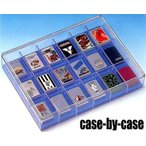 ≪日本製≫ ■case-by-case■ ZIPPO ライター用 クリアー コレクションケース 18個収納タイプ クリアカバー蓋 保護マット付 ライターコレクションボックス