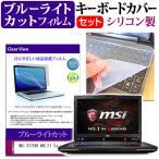 MSI GT72VR 6RE[17.3インチ]ブルーライトカット 指紋防止 液晶保護フィルム と キーボードカバー