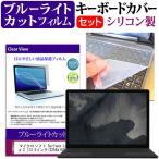 マイクロソフト Surface Laptop 2[13.5インチ]機種で使える ブルーライトカット 指紋防止 液晶保護フィルム と キーボードカバー セット キーボード保護