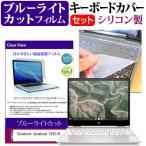 Dynabook dynabook VZ62/N (12.5インチ) 機種で使える ブルーライトカット 指紋防止 液晶保護フィルム と キーボードカバー セット