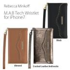 レベッカミンコフ REBECCAMINKOFF M.A.B. TECH WRISTLET for iPhone 8 7ウォレットタイプ・お財布・カード収納