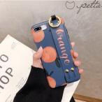 iPhone ケース カバー 7 8 Plus X XS XR XSMax 11 pro promax SE2 オレンジ みかん くだもの 果物 フルーツ ベルト付き リング付き