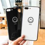 iPhone アイフォン ケース カバー 7 8 Plus X XS XR XSMax スマイル にこちゃん ワンポイント ペア カップル おそろい  シンプル かわいい おしゃれ 韓国
