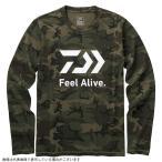 ダイワ DE-82009 ロングスリーブ FEEL Alive.Tシャツ グリーンカモ S