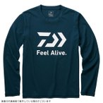 ダイワ DE-82009 ロングスリーブ FEEL Alive.Tシャツ リバーブルー 3XL