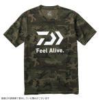 ダイワ DE-83009 ショートスリーブ FEEL Alive.Tシャツ グリーンカモ M