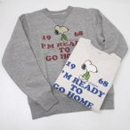Buzz Ricksons バズリクソンズ BR68074  BUZZ × PEANUTS I′M READY TO GO HOME スヌーピー スウェット