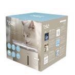 プラスアクア - +AQUA - 猫 犬 水飲み器 自動 循環浄水給水器 2l 超静音 アクアメビウス次世代機 日本メーカー安心1年保証サポート 活性炭フィルター付き
