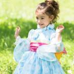 子供服ゆかた キッズ 浴衣 子供 女の子 デイジー柄ふんわり浴衣ドレス 100 110 120 130cm