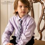 男の子 ネクタイ付きギンガムチェックシャツ 110 120 130  入学式 卒園式