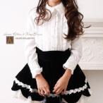 子供服 ハートリボンのアリス2WAYブラウス 長袖半袖両用