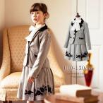 ショッピング女の子 入学式スーツ 女の子 子ども服 バラとリボンのスーツ2点セット ジャケット/スカート 子供服 ジャケットキッズ