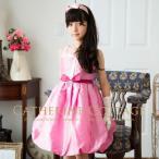 子供ドレス 子どもドレス スパンコール バルーンドレス  110-140cm