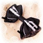 はしごレースのリボンクリップ アクセサリー ヘアクリップ 髪飾り フォーマル 結婚式 子ども ドレスやワンピースと合わせて FRSP