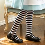 子供靴下 ハロウィン 仮装 ボーダーニーハイソックス