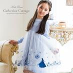子供ワンピース リトルシンデレラ刺繍ワンピース 子供ドレス  100 110 120 130 cm