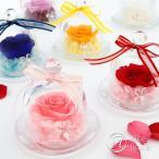 母の日 ギフト カーネーション プリザーブドフラワー ガラスドーム ガラスケース バラ プレゼント ギフト 名入れ 枯れない 誕生日 女性 彼女 お祝い