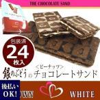 銀のぶどうの チョコレートサンド 24枚入 BROWN ブラウン12枚・ WHITE ホワイト12枚(※冷蔵便必須期間中|クール便代324円追加済)