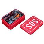 赤缶 サバイバルキット SOSキット 多用途工具セット エマージェンシーキット 6点セット 専用保管ケース付き
