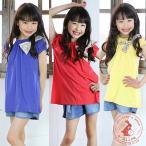 子供服 韓国子供服 大きな花柄リボン付きチュニック 90cm 100cm 110cm 120cm 130cm 女の子 子供服 2