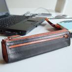 ペンケース ファスナー 革 メンズ レディース シンプル レザー 筆箱 文房具 ギフト Cカンパ二ー クローチェ ペンケース