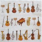 Ambiente オランダ ペーパーナプキン オーケストラ 音楽 楽器 楽譜 ORCHESTRA 13306280 バラ売り2枚1セット デコパージュ