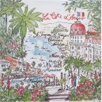 Ambiente オランダ ペーパーナプキン コート・ダジュール Cote d Azur 13307220 バラ売り2枚1セット デコパージュ ドリパージュ